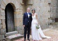 Novios boda Sant Pere de Clarà